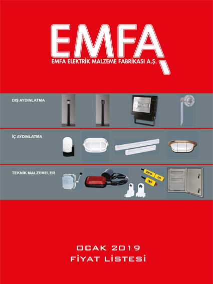 EMFA Ocak 2019 Fiyat Listesi